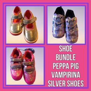 Vampirina, Peppa Pig & Silver Shoes Bundle Size 12